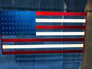 American Flag / powder coating