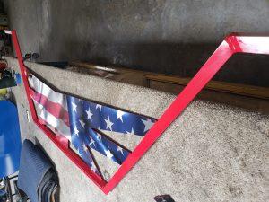 American Flag/ Powder coating