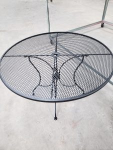 Patio Table/ Powder coating